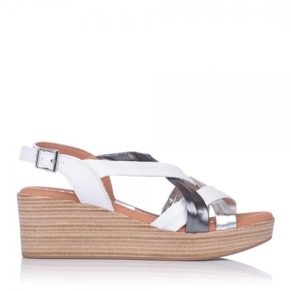 Sandalia tubulares piel cuña Oh my sandals 4687