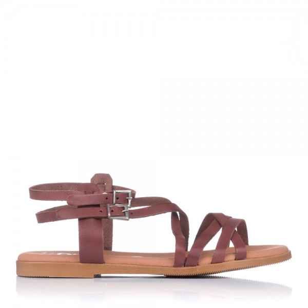 Sandalia romana plana piel Oh my sandals 4642