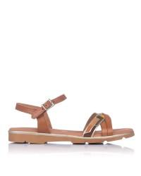 Sandalia piel combi plana Mujer Oh my sandals 4652
