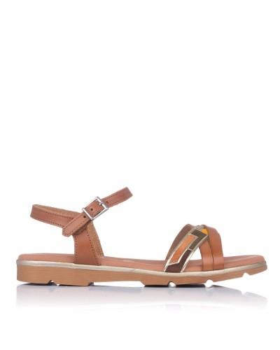 Sandalia piel combi plana Oh my sandals 4652