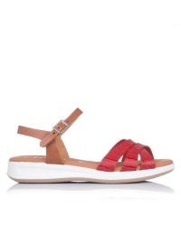 Sandalia piel coco plana Oh my sandals 4660