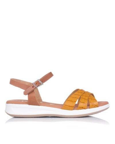 Sandalia piel coco plana Mujer Oh my sandals 4660