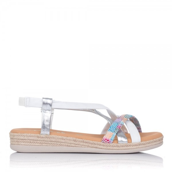 Sandalia tubalres piel plana Oh my sandals 4665