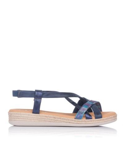 Sandalia tubalres piel plana Mujer Oh my sandals 4665