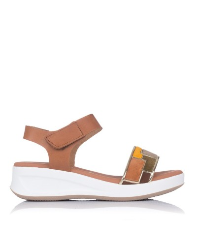 Sandalia piel combi cuña Mujer Oh my sandals 4678