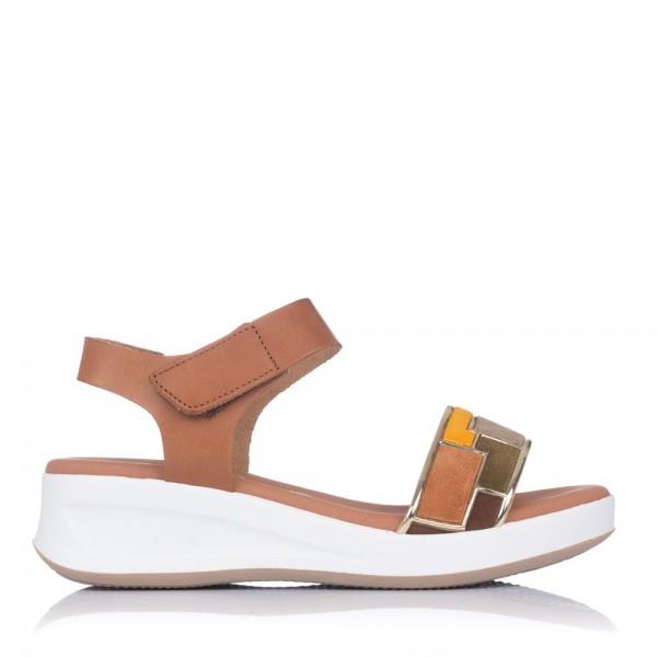 Sandalia piel combi cuña Mujer Oh my sandals 4678