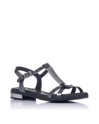 Sandalia piel tacon bajo Oh my sandals 4656