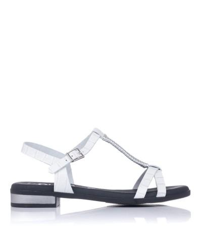 Sandalia piel tacon bajo Mujer Oh my sandals 4656