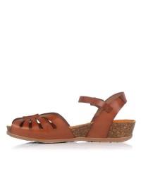 Sandalia calados piel cuña Yokono CAPRI-071