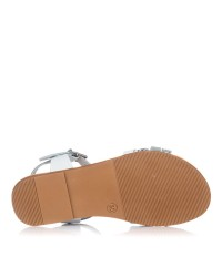 Sandalia piel reptil combinada Oh my sandals 4754