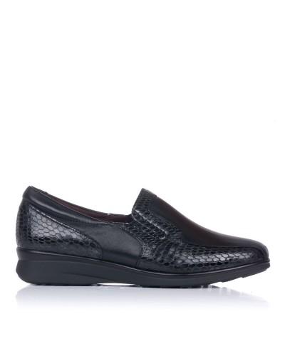 Zapato mocasin confort piel Mujer Pitillos 6302