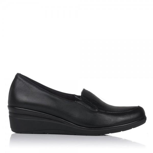 Zapato piel combi cuña Mujer Pitillos 6321
