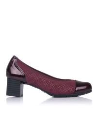 Zapato salon combi tacon medio Pitillos 6340