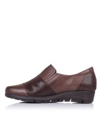 Zapato mocasin piel combinado Pitillos 2102