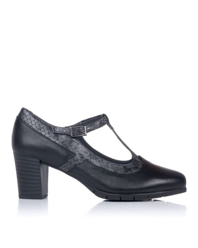 Zapato t piel tacon alto Mujer Pitillos 6363