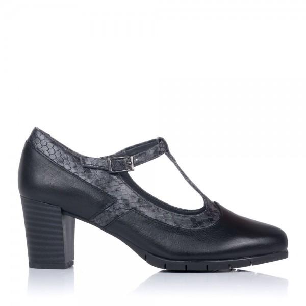 Zapato t piel tacon alto Pitillos 6363