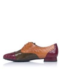 Zapato cordones piel combinado Pitillos 6381