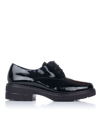 Zapato cordones charol tacon Mujer Pitillos 6440