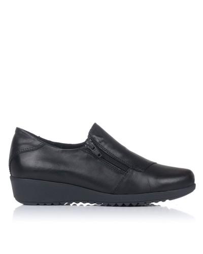 Zapato piel con cremallera Mujer 48 horas 21404