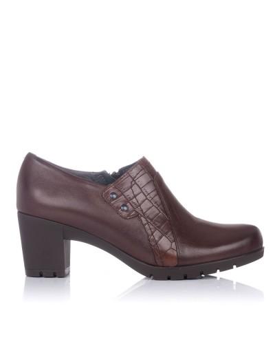 Zapato abotinado piel tacon Mujer Pitillos 3111