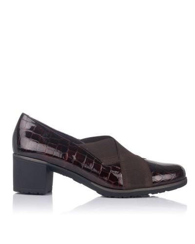 Zapato elasticos tacon medio Mujer Pitillos 6330