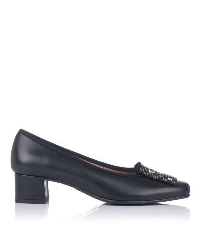 Zapato piel adorno tacon bajo Mujer Gomez 9206