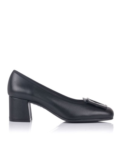 Zapato piel adorno tacon medio Mujer Gomez 9202