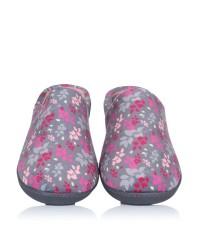 Zapatilla flores cuña Isotoner 93763 F