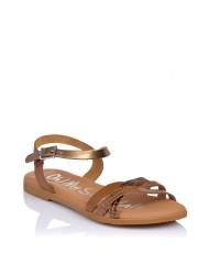 Sandalia piel combi plana Oh my sandals 4806