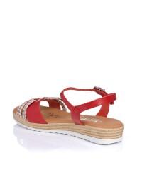 Sandalia piel combinada plana Oh my sandals 4833
