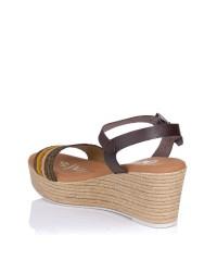 Sandalia combi cuña Oh my sandals 4864