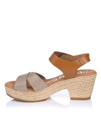 Sandalia tacon plataforma Oh my sandals 4886
