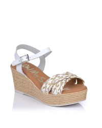 Sandalia rafia combi cuña Oh my sandals 4865