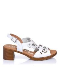 Sandalia piel tacon medio Oh my sandals 4855