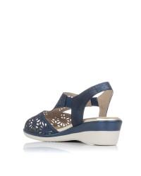 Sandalia calados piel classic Pitillos 6010
